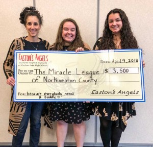 Easton Angels presentation of check